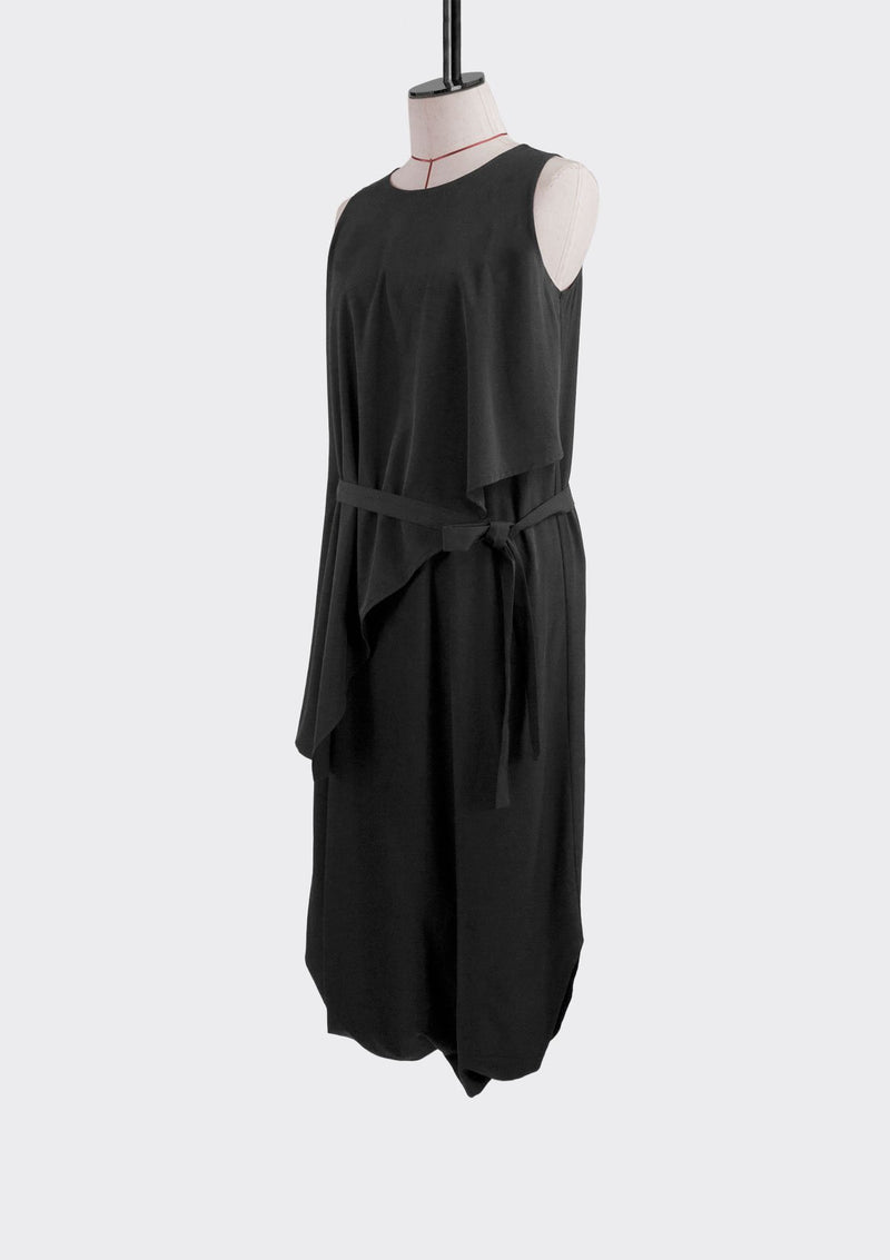 Fall 2019 Envelope Jumpsuit Dress Cotton Polyester Black M