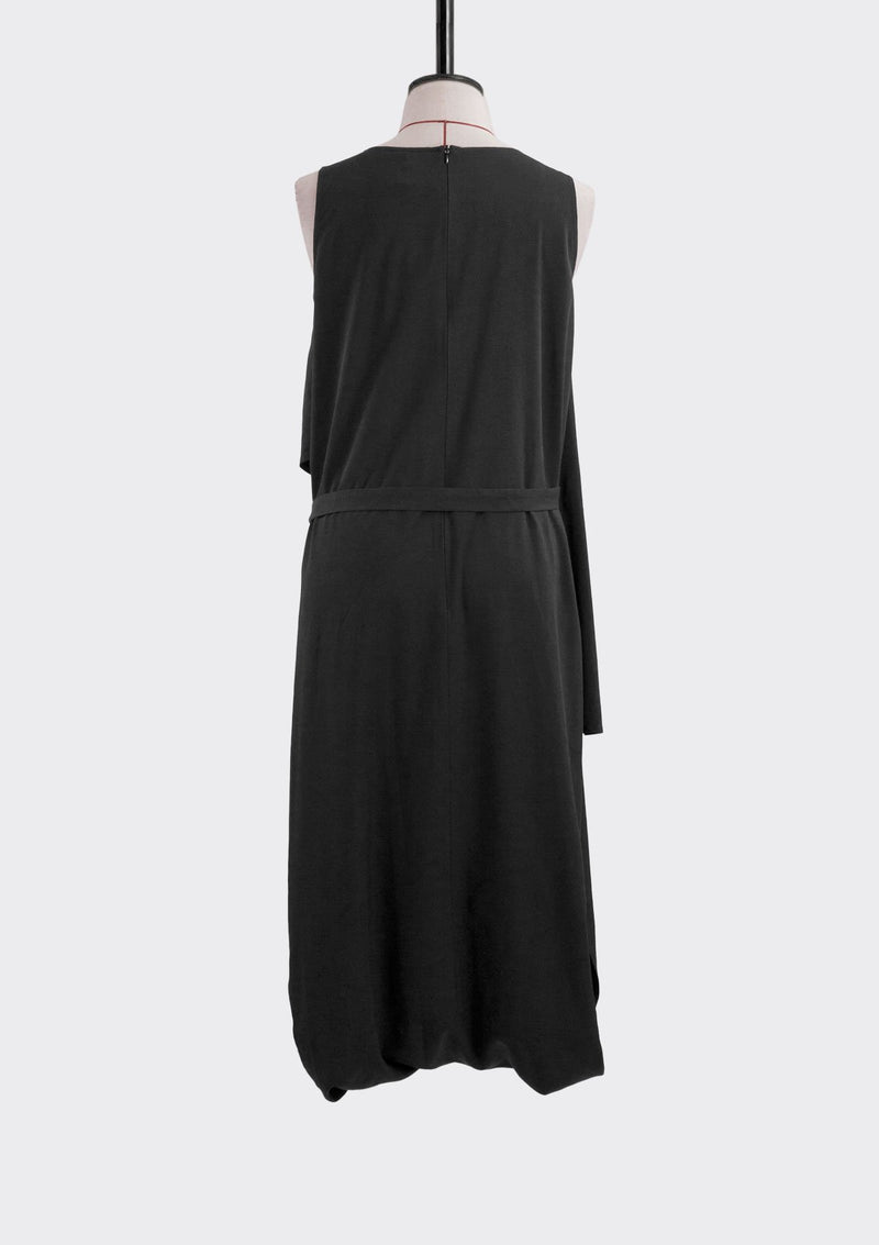 Fall 2019 Envelope Jumpsuit Dress Cotton Polyester Black L