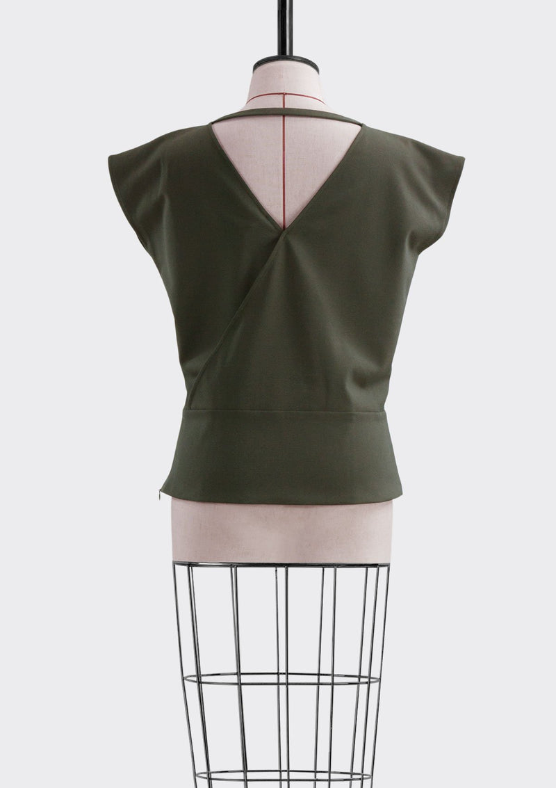 Spring Summer 2019 Pier Top Polyester Rayon Khaki L