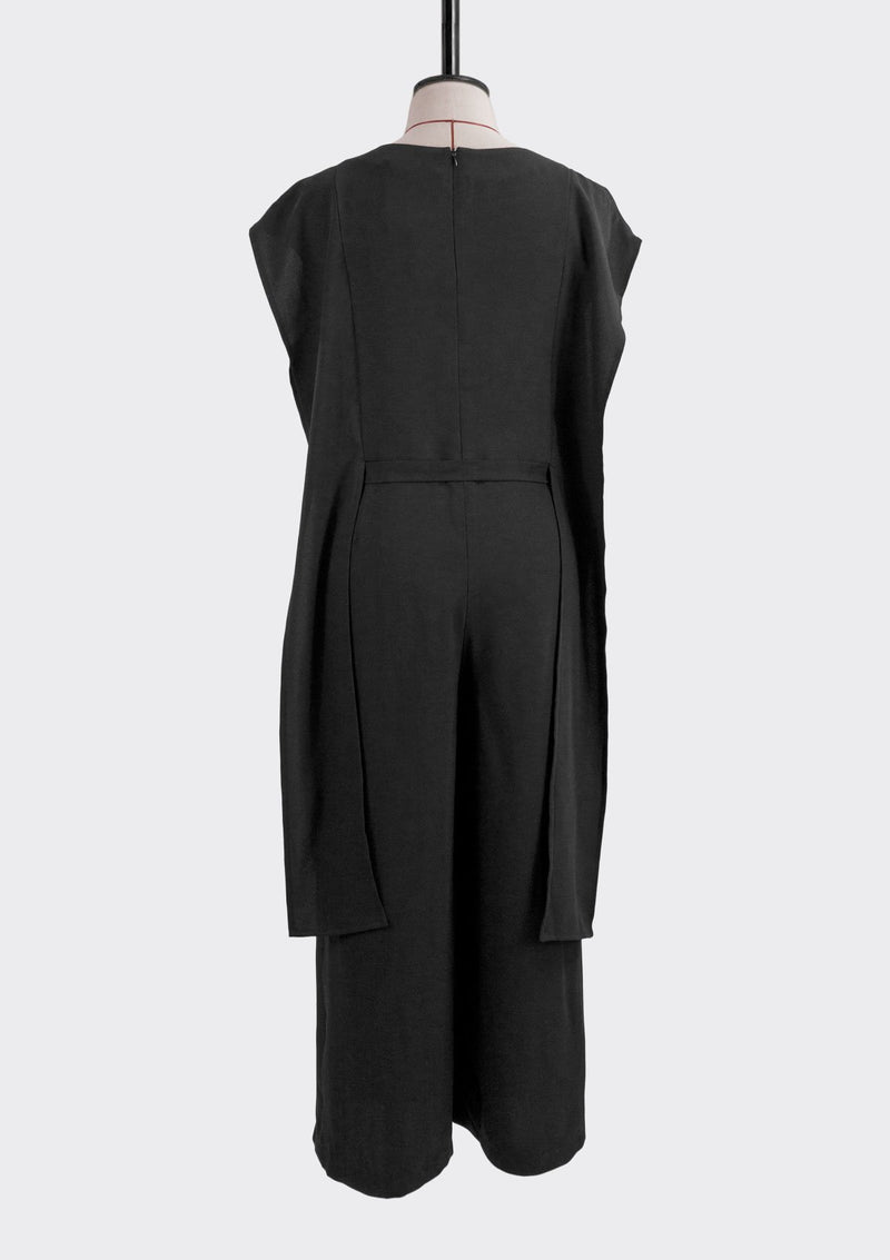 Fall 2019 Mode Jumpsuit Polyester Black