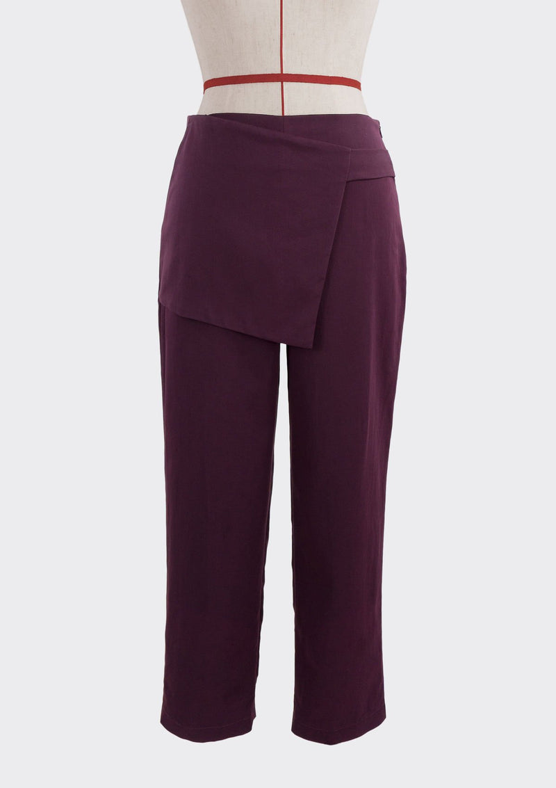 Fall 2019 Attach Pants Modal Polyester Purple S