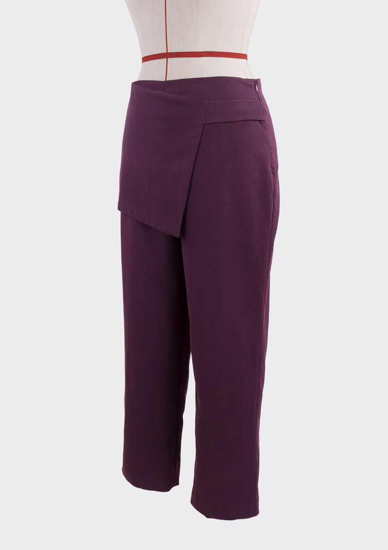 Fall 2019 Attach Pants Modal Polyester Purple M