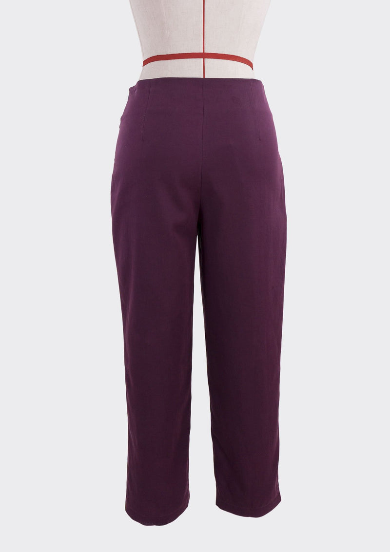 Fall 2019 Attach Pants Modal Polyester Purple L
