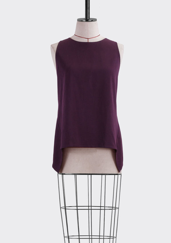 Fall 2019 Dalia Asymmetric Top Modal Polyester Purple S