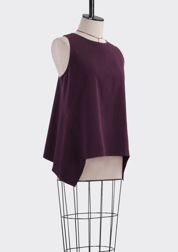 Fall 2019 Dalia Asymmetric Top Modal Polyester Purple M