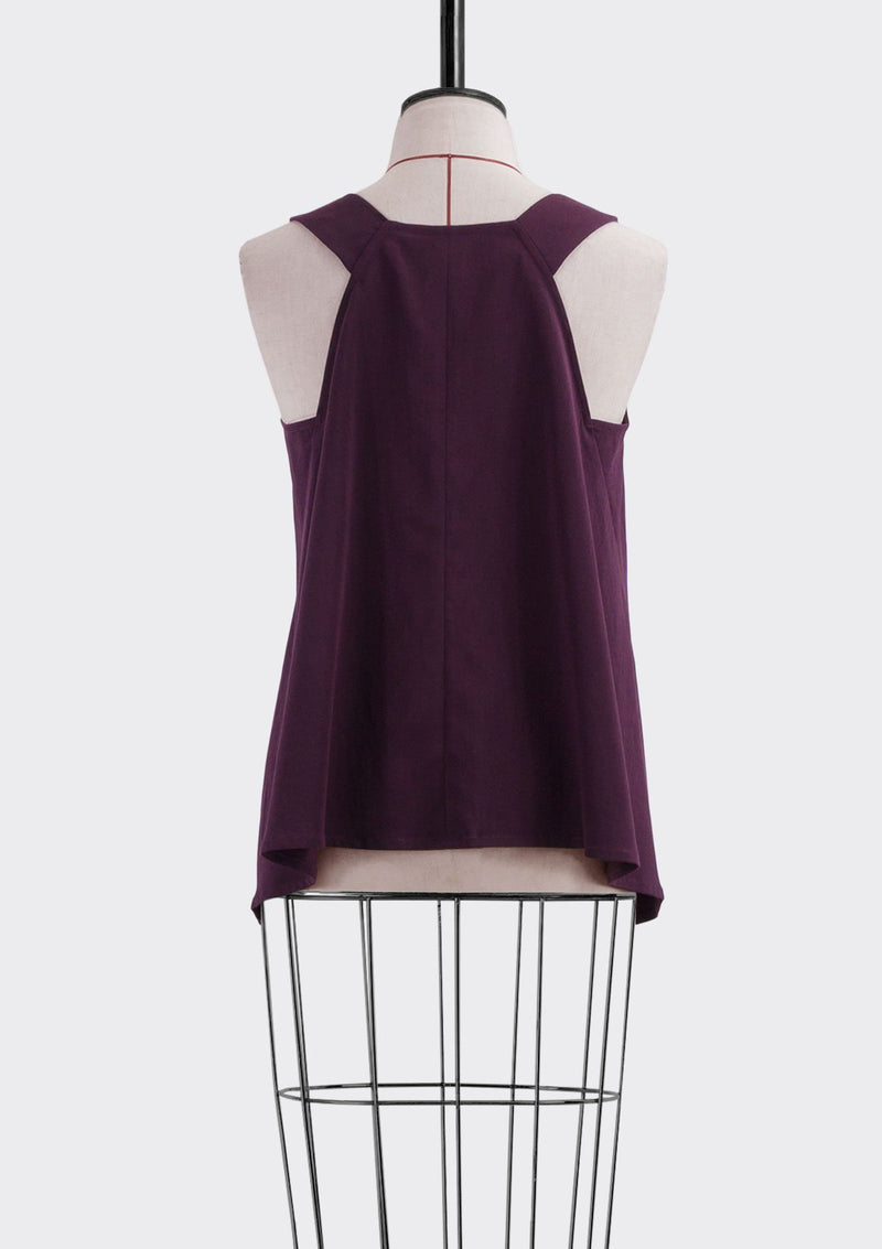 Fall 2019 Dalia Asymmetric Top Modal Polyester Purple L