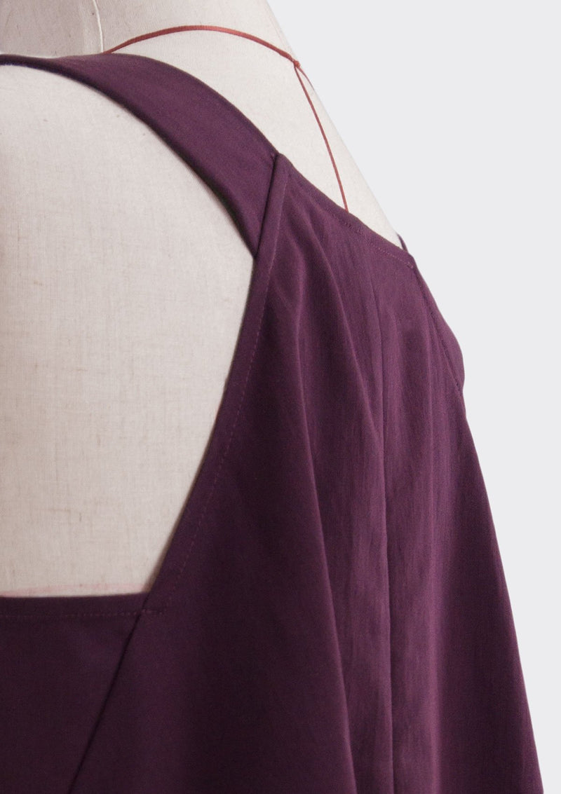 Fall 2019 Dalia Asymmetric Top Modal Polyester Purple XL