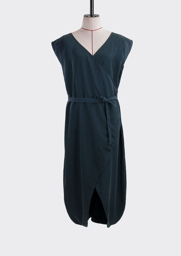 Fall 2019 Olie Tie Waist Dress Modal Polyester Dark-Blue S
