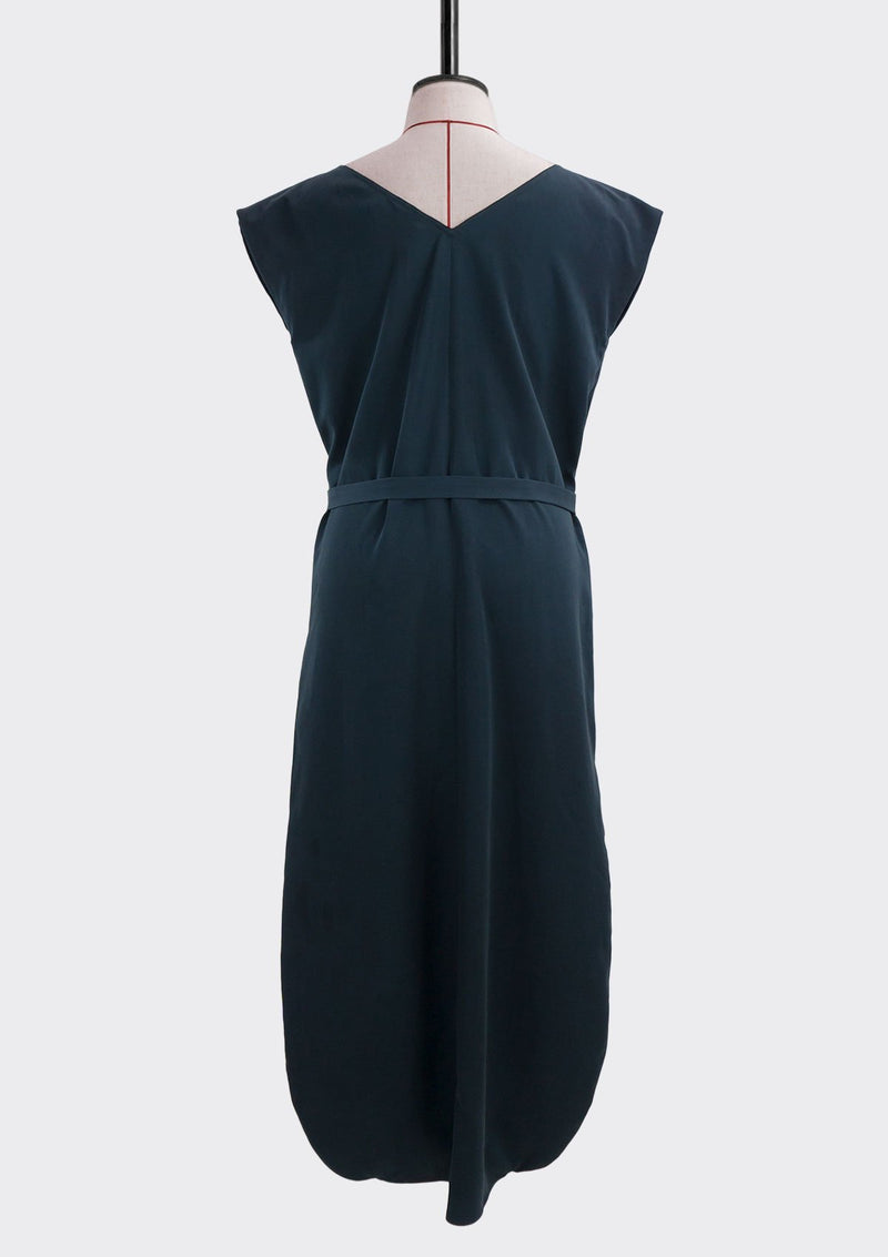 Fall 2019 Olie Tie Waist Dress Modal Polyester Dark-Blue L