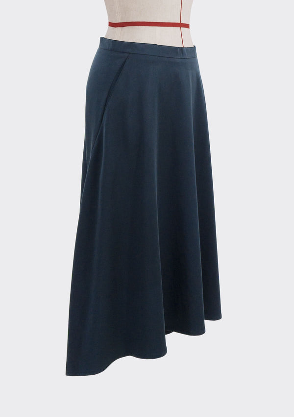 Fall 2019 Dahl Skirt Modal Polyester Dark-Blue M