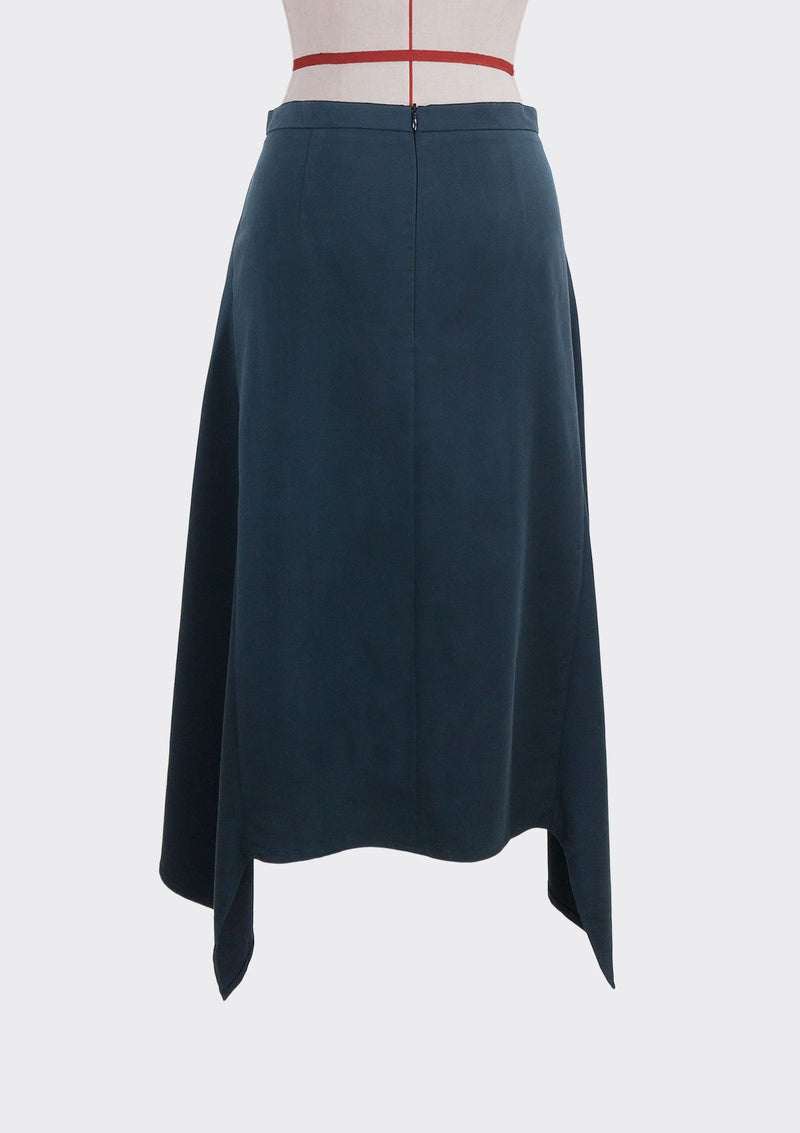 Fall 2019 Dahl Skirt Modal Polyester Dark-Blue L