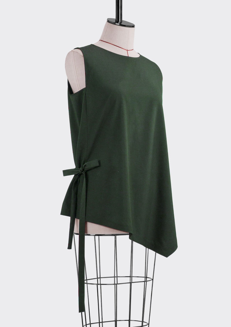 Fall 2019 Flow Top Polyester Green M