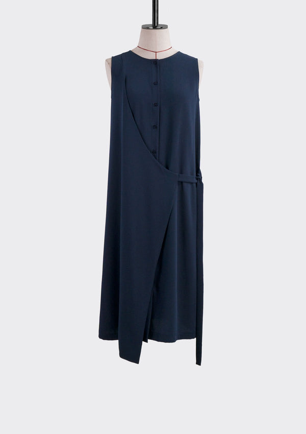 Fall 2019 Solitary Dress Polyester Blue S