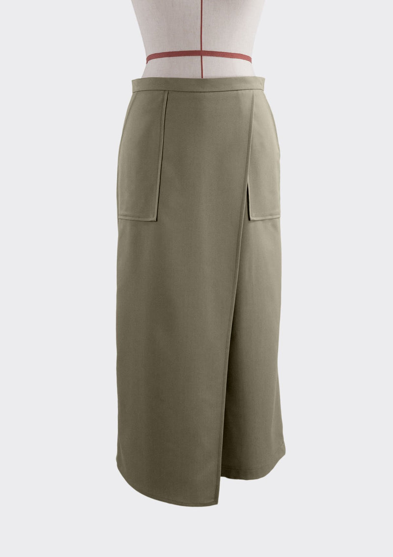 Fall 2019 Patch Pants Polyester Rayon Khaki S