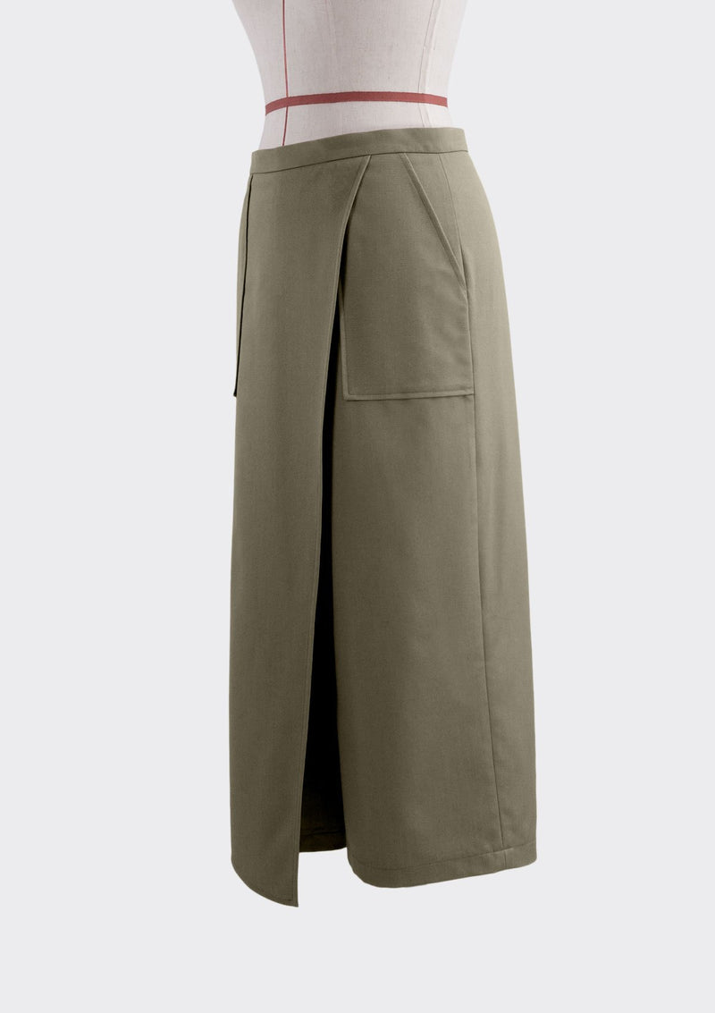 Fall 2019 Patch Pants Polyester Rayon Khaki M