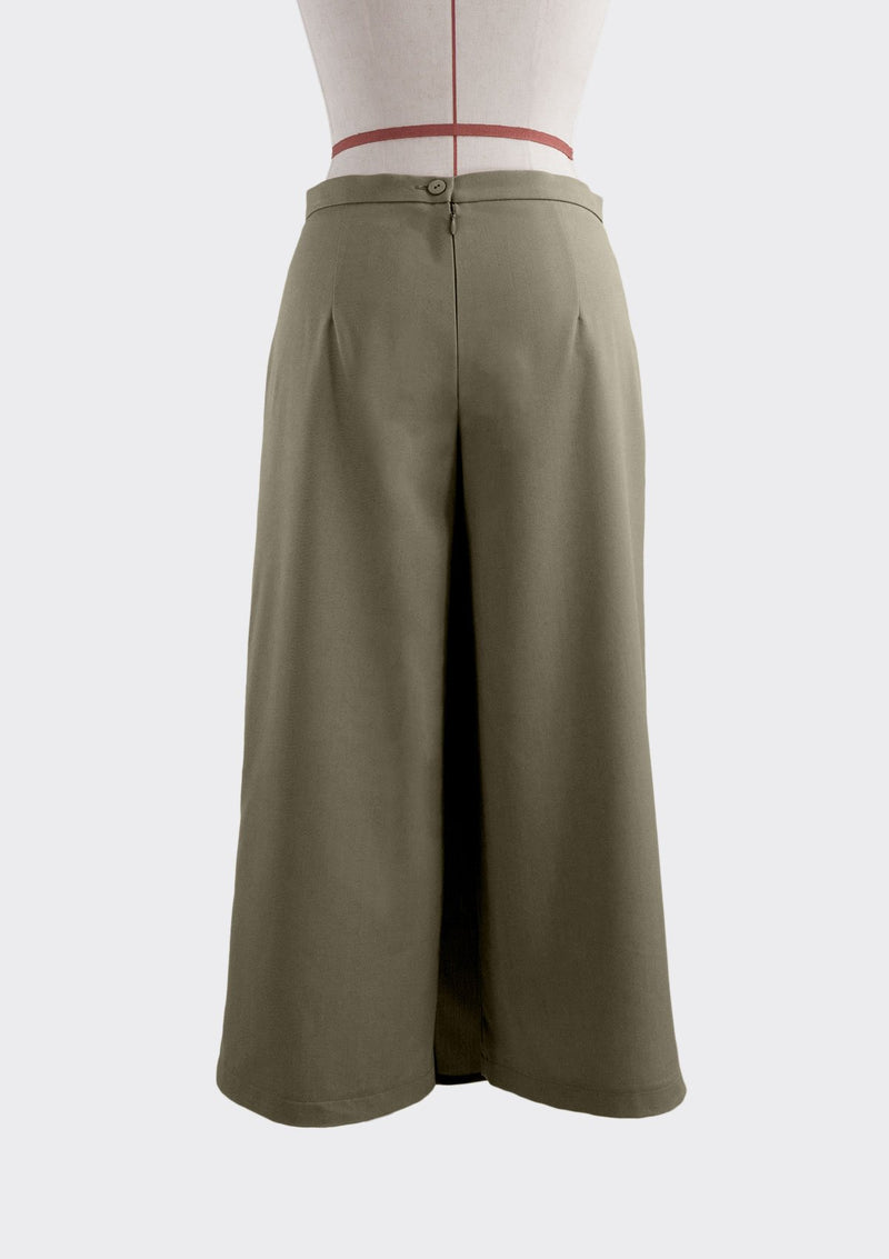 Fall 2019 Patch Pants Polyester Rayon Khaki L