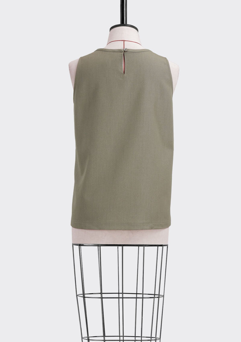 Fall 2019 Ledge Top Polyester Rayon Khaki L