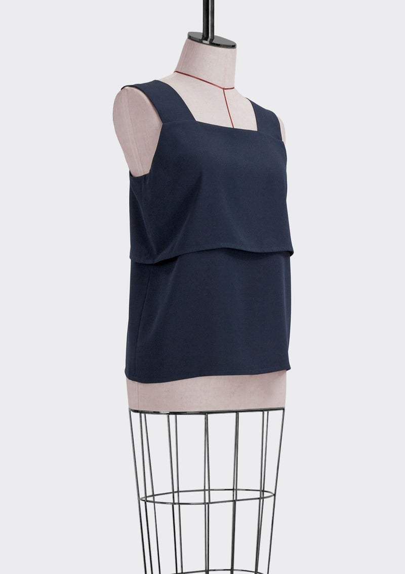 Fall 2019 Tube Top Polyester Blue M