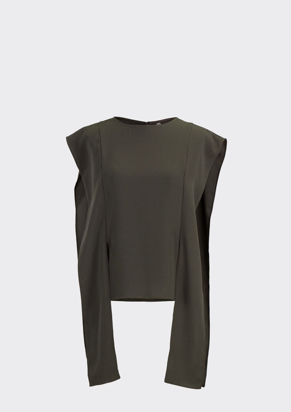 Fall 2019 Amanda Top Polyester Brown XL