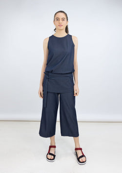 Resort 2019/20 Joanne Top Polyester Rayon Blue XL
