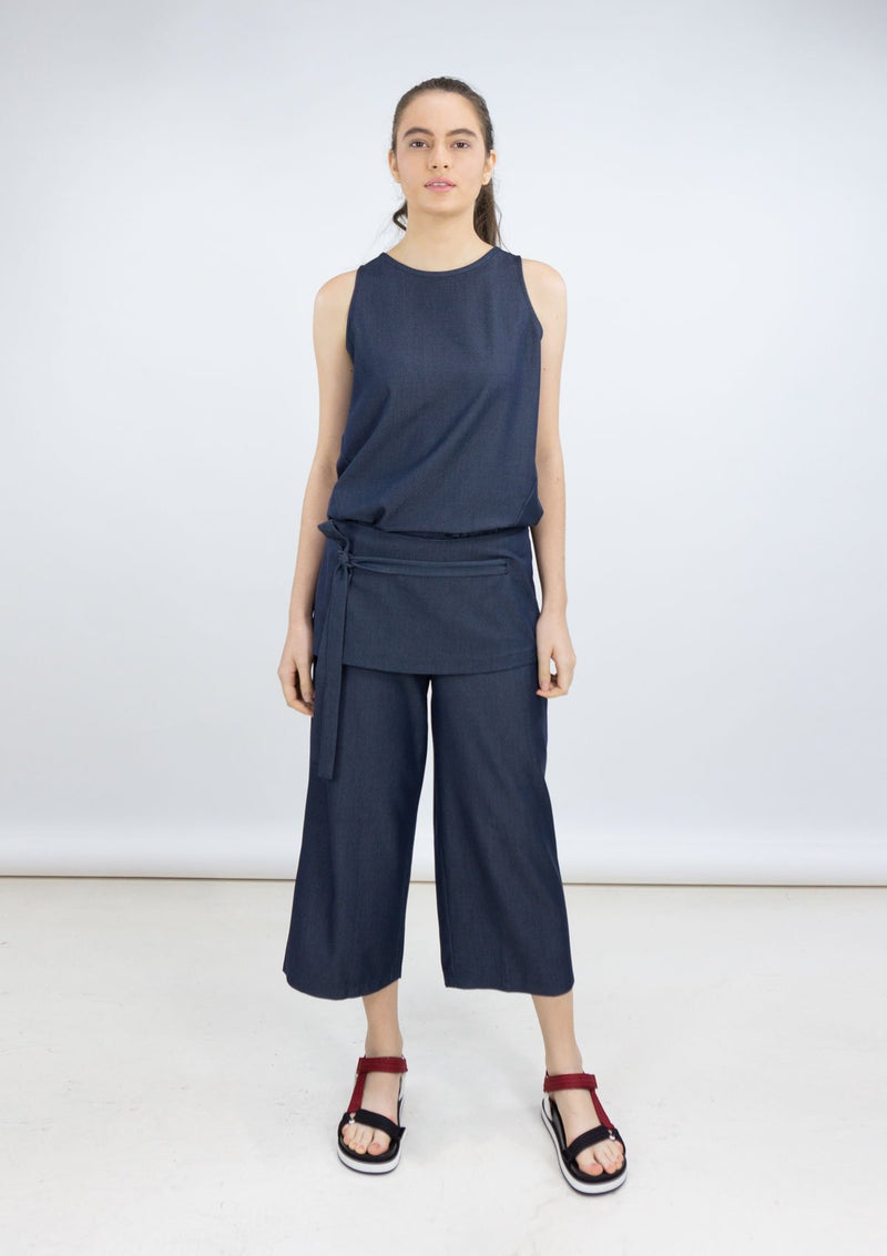 Resort 2019/20 Jojo Pants Polyester Rayon Blue XL