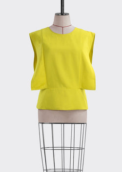 Resort 2019/20 Landro Top Polyester Rayon Yellow S