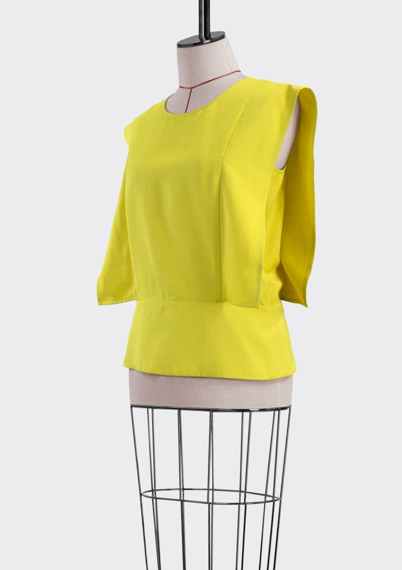 Resort 2019/20 Landro Top Polyester Rayon Yellow M