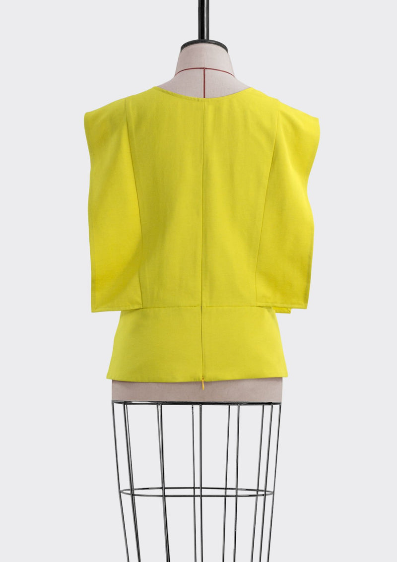 Resort 2019/20 Landro Top Polyester Rayon Yellow L