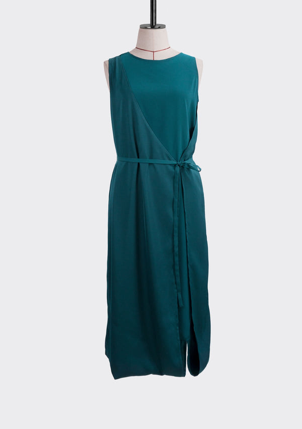 Resort 2019/20 Contrast Dress Polyester Teal M