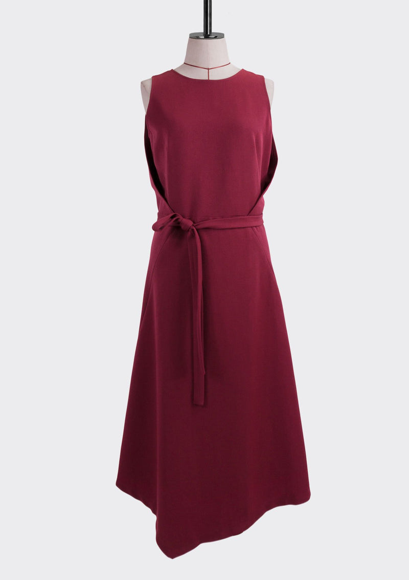 Resort 2019/20 Dusk Dress Polyester Rayon Burgundy S