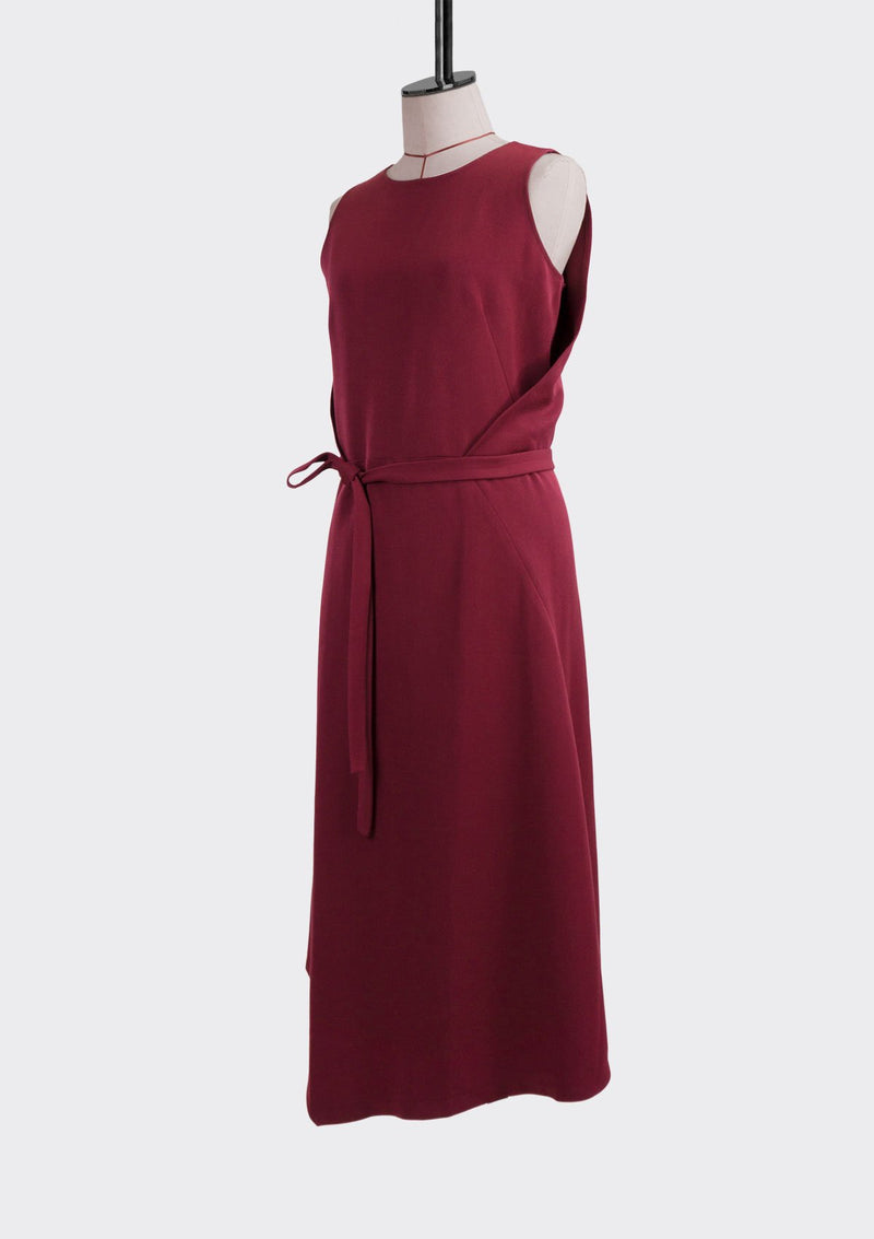 Resort 2019/20 Dusk Dress Polyester Rayon Burgundy M