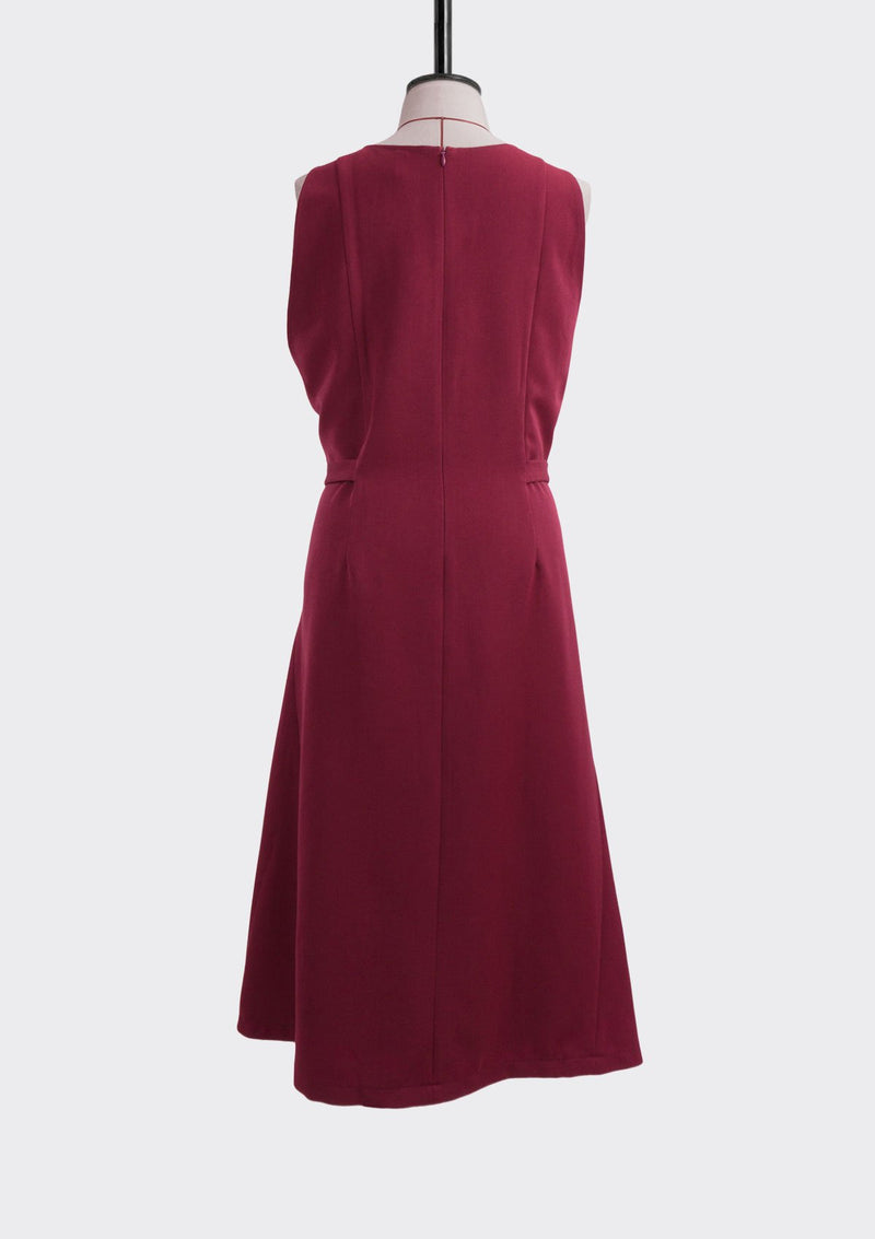 Resort 2019/20 Dusk Dress Polyester Rayon Burgundy L