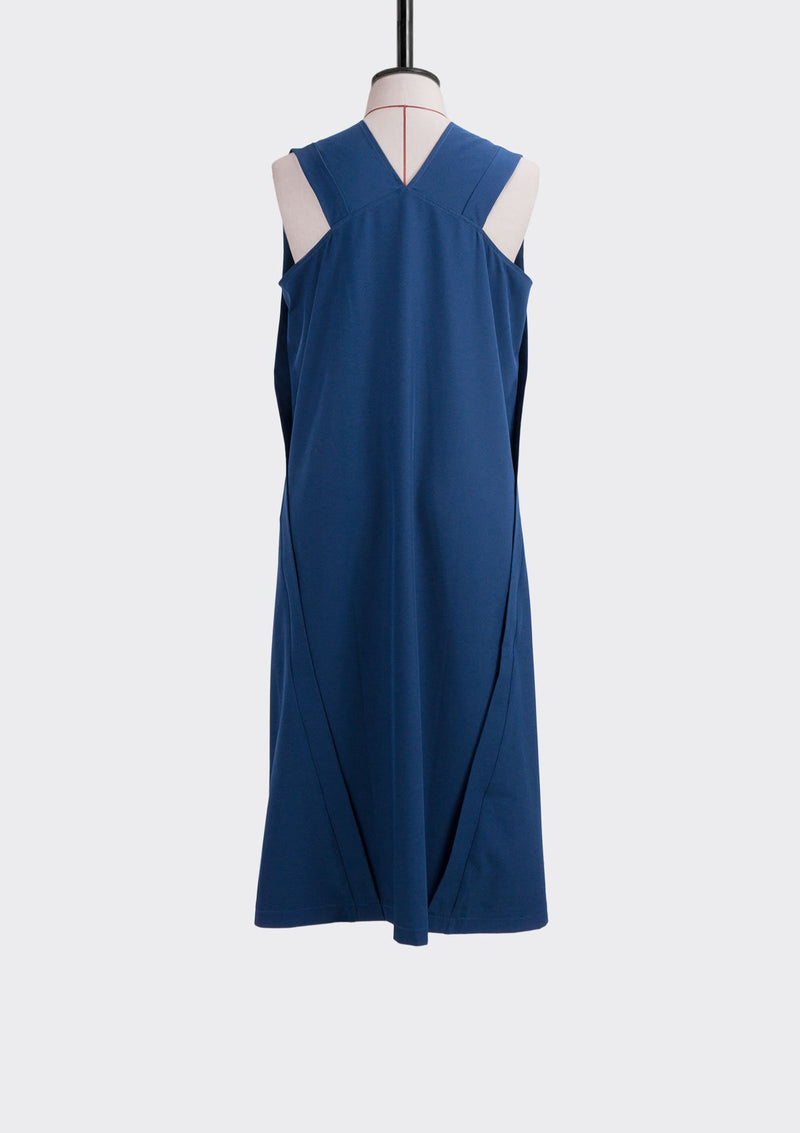 Resort 2019/20 Still Dress Cotton Polyester Blue L