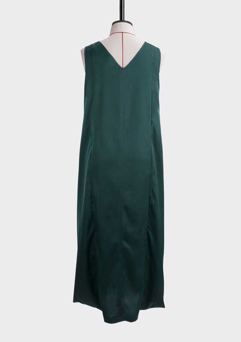 Resort 2019/20 Flip Dress Polyester Green XL
