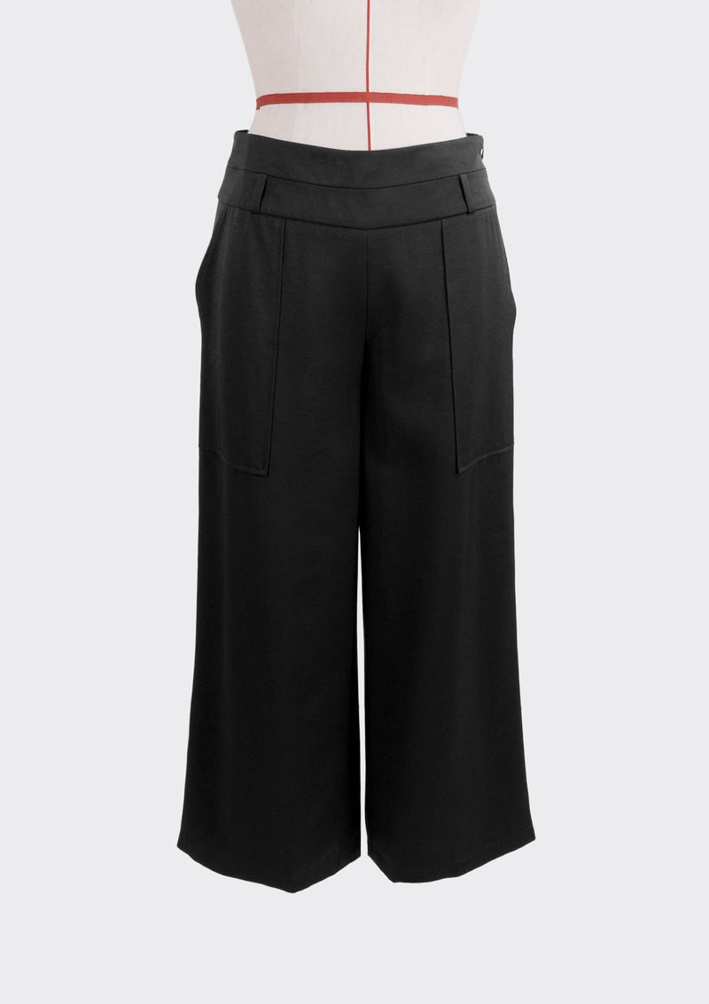 Resort 2019/20 Duplex Pants Polyester Rayon Black S