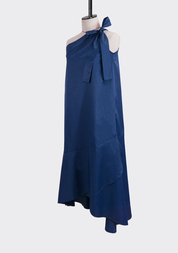 Resort 2019/20 Midnight Dress Cotton Polyester Blue M