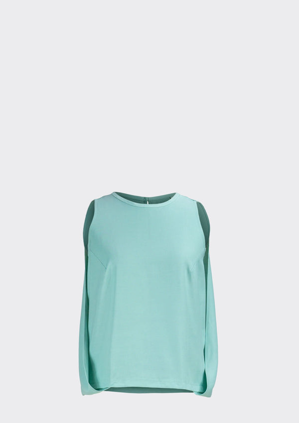 Spring Summer 2020 Zooey Top Polyester Rayon Green XL