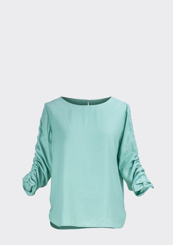Spring Summer 2020 Swirl Top Polyester Rayon Green XL