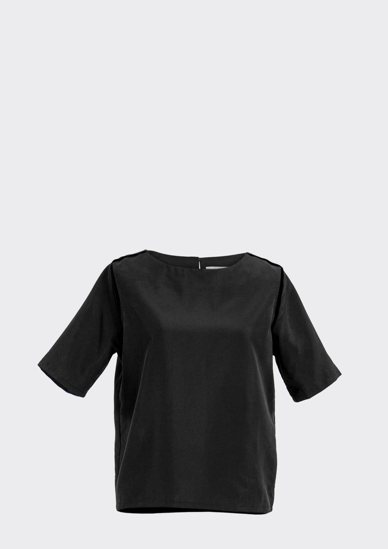 Spring Summer 2020 Fraction Top Modal Polyester Black XL