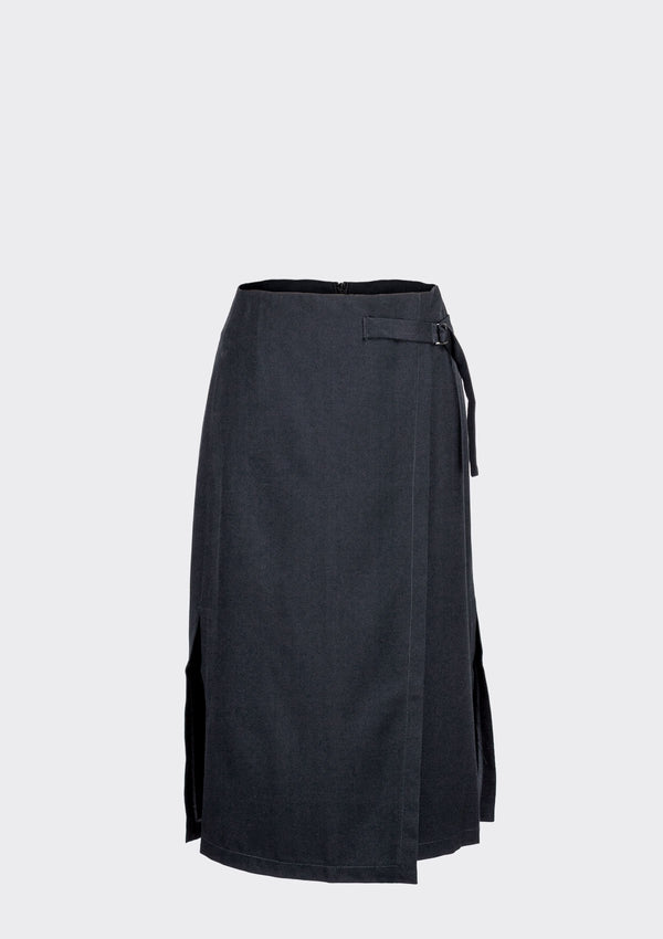 Spring Summer 2020 Lark Skirt Polyester Rayon Blue XL