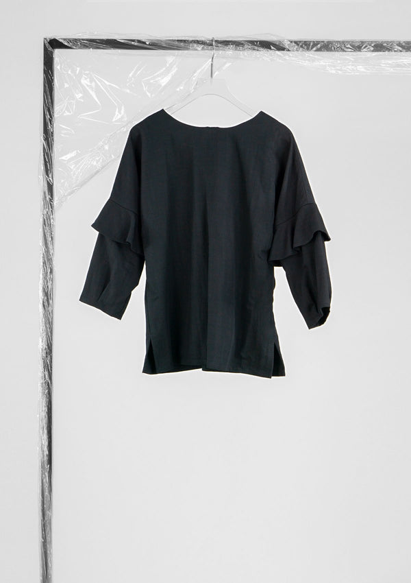 Limited Edition Beth Top Cotton Polyester Black S