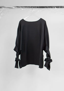 Limited Edition Bow Top Polyester Black S