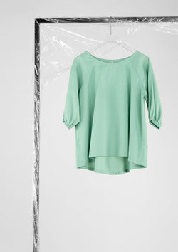 Limited Edition Carrie Top Cotton Polyester Green S