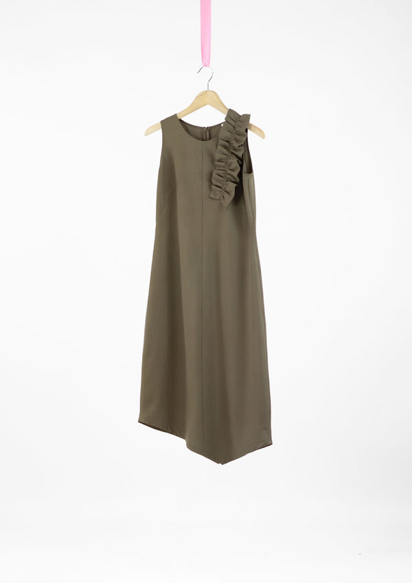 Limited Edition Cora Dress Polyester Khaki S
