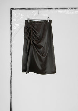 Limited Edition Elle Skirt Polyester Satin Brown S