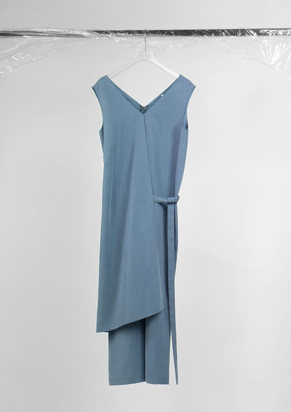 Limited Edition Fly Jumpsuit Tencel Cotton Blue S