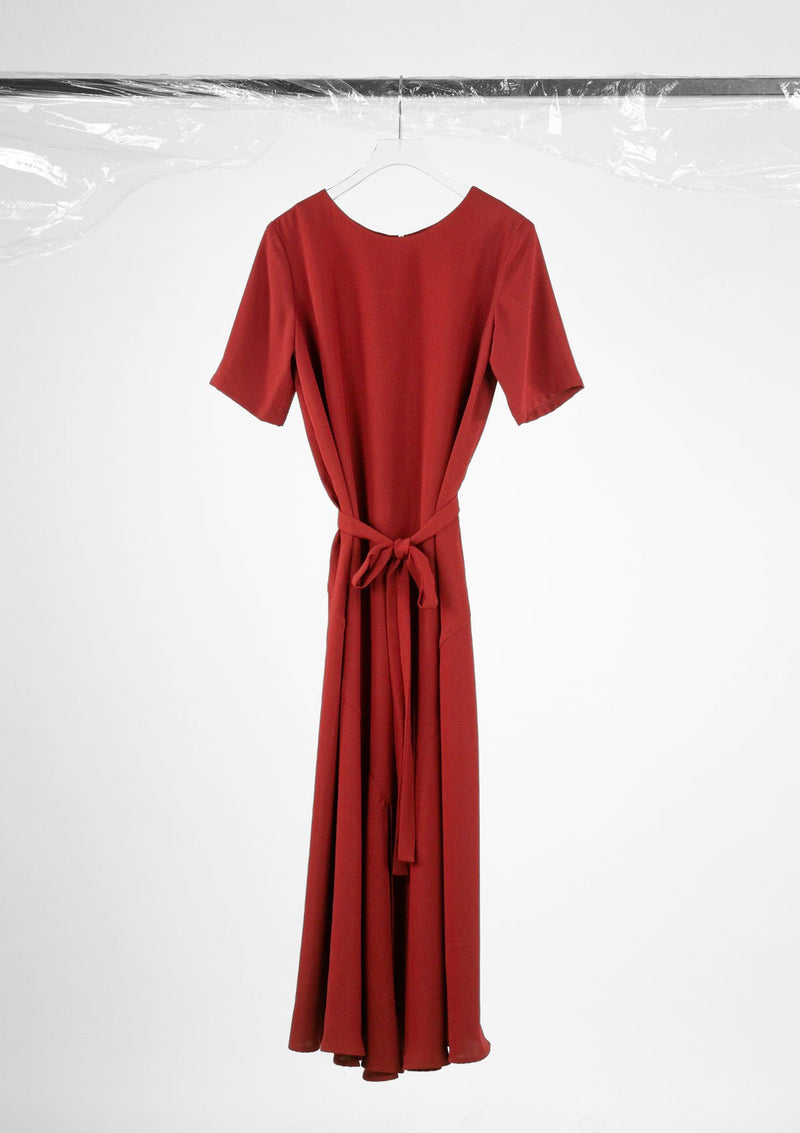 Limited Edition Hiro Dress Polyester Red S