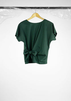 Limited Edition Irene Top Polyester Cotton Dark-Green S