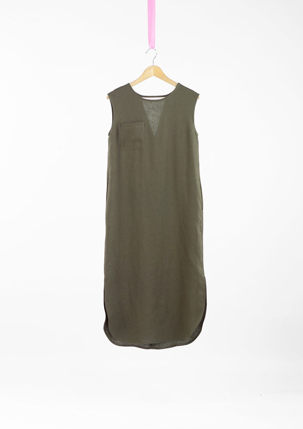 Limited Edition Mono Dress Linen Khaki S