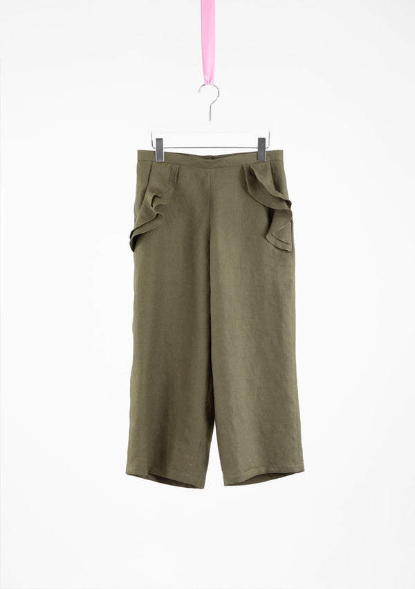 Limited Edition Opal Pants Linen Khaki S